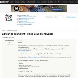 Editeur de soundfont : Viena SoundFont Editor