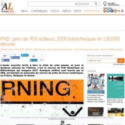 PNB : près de 900 éditeurs, 2000 bibliothèques et 130.000 ebooks