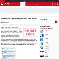 Éditeurs web : comment respecter les droits d'auteur ? - Comment Ça Marche