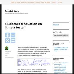 Editeurs d'équation en ligne