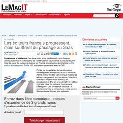 Les éditeurs français progressent, mais souffrent du passage au Saas