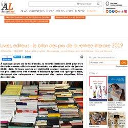 Livres, éditeurs : le bilan des prix de la rentrée littéraire 2019