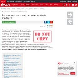 Éditeurs web : comment respecter les droits d'auteur ?