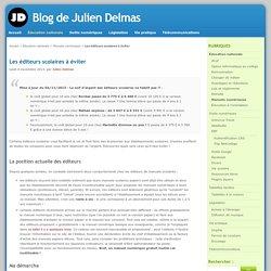 Les éditeurs scolaires à éviter - Blog de Julien Delmas