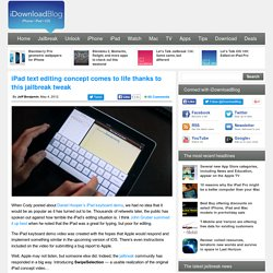 iPad text editing concept comes to life thanks to this jailbreak tweak