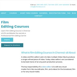 1Year Film Editing Courses in Chennai & Color Correction VFX