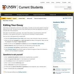 Editing Your Essay