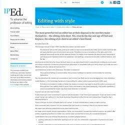Institute of Professional Editors Ltd