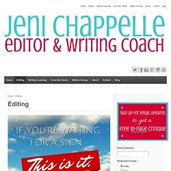 Editing - Jeni Chappelle