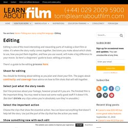 Editing - Learn about film