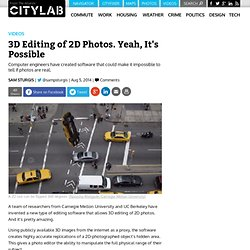 3D Editing of 2D Photos. Yeah, It's Possible