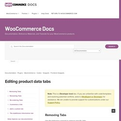 Editing product data tabs - WooCommerce Docs