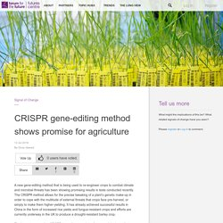 CRISPR gene-editing method shows promise for agriculture