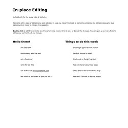 In-place editing system - by Siddharth for NetTuts