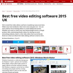 Best free video editing software 2015 UK - Test Centre