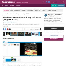 Best free video editing software: our 20 top programs of 2015