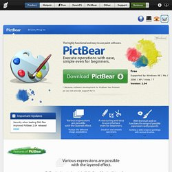 Free image editing software - Paint and Photo app PictBear