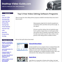 Top 5 free video editing software programs