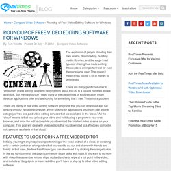 Free Video Editing Software Reviews - Windows