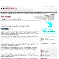 IFAS 2014 - Une 33e édition plus que jamais d'actualité
