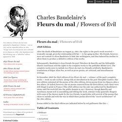 1868 Edition of Charles Baudelaire's Fleurs du mal