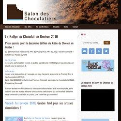 2ème édition du Rallye du Chocolat de Genève - samedi 1er octobre 2016