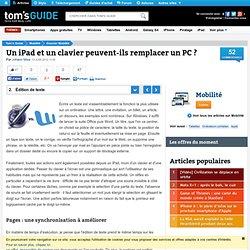 Édition de texte : Un iPad et un clavier peuvent-ils remplacer un PC ?
