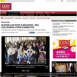 Blénod-lès-Pont-à-Mousson : des collégiens hyper-connectés