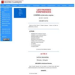 édition de LES FAUSSES CONFIDENCES (MARIVAUX)
