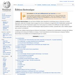Édition électronique