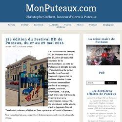 13e édition du Festival BD de Puteaux, du 27 au 29 mai 2016 - MonPuteaux.com