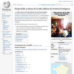 Projet:Edit-a-thons de la 68e édition du Festival d'Avignon