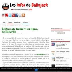 Édition de fichiers en ligne, RollMyFile
