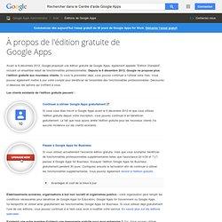 À propos de l'édition gratuite de GoogleApps - Centre d'aide Google Apps Administrator