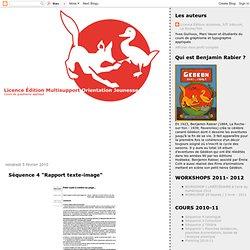 """Séquence 4 """"Rapport texte-image"""""""