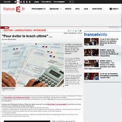 """""""L'Etat perd 100 milliards de recettes fiscales!"""" - Edition - Larrouturou - interview"""
