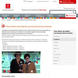 7ème édition des Digital Learning Excellence Awards