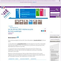loi Lang, édition, numérique.Loi du 26 mai 2011 relative au prix du livre numérique