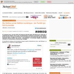 De l'édition et de l'édition numérique : les Tumblr qui font la rentrée