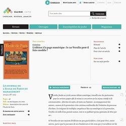 L'édition à la page numérique: le cas Versilio peut-il faire modèle?