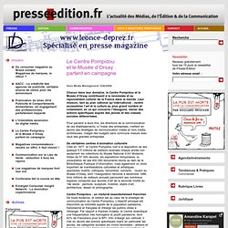 Le Centre Pompidou et le Musée d'Orsay partent en campagne