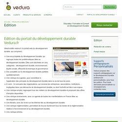 Edition du portail du développement durable Vedura.fr