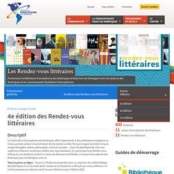 4e édition des Rendez-vous littéraires — Les Rendez-vous littéraires