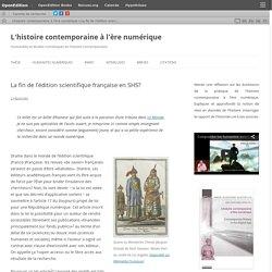 La fin de l'édition scientifique française en SHS?