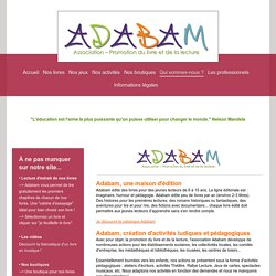 Editions Adabam - Qui sommes-nous ?