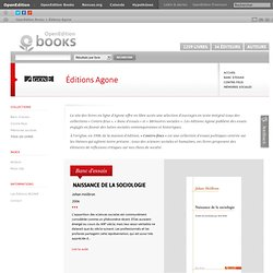Les livres en ligne des éditions Agone - Collection Banc d'essai
