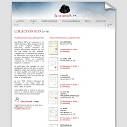 Beya Éditions > Livres, alchimie, hermétisme