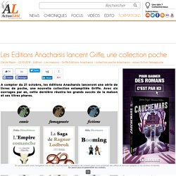 Les Editions Anacharsis lancent Griffe, une collection poche