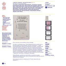 ÉDITIONS B42 ♦● idée de confort, une anthologie