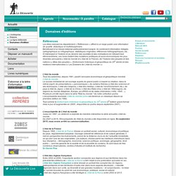 Editions la découverte - La maison : Domaines d'éditions > Références